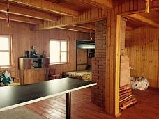 Добротный  теплый дом на берегу озера!