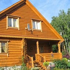Дача-  дом из бревна