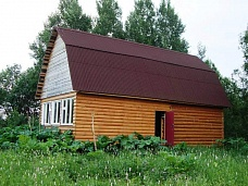 Новый  деревянный дом на участке 36 соток