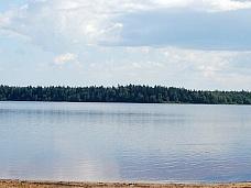 Участок  10 соток у озера до СПб 25 км