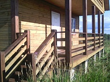 Новый  дом из бруса в деревне