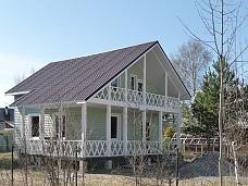 Новый  дом из бруса в Белоострове.