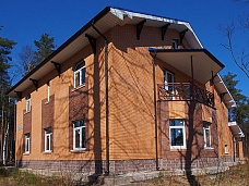 Новый  кирпичный коттедж в Зеленогорске.